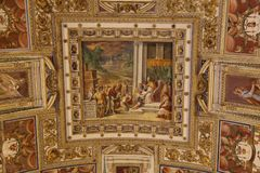 Art on the ceiling in The Vatican Royalty Free Stock Photos
