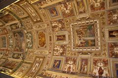 Art on the ceiling in The Vatican Stock Image