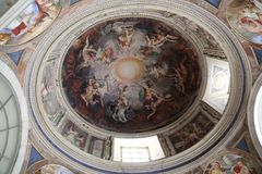 Art on the ceiling in The Vatican Royalty Free Stock Photography
