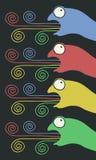 Art chameleon Stock Images