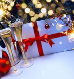 Art champagne at New Year's Eve Royalty Free Stock Photography