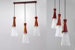 Art Chandelier de luxe, plafonnier mené, lampe pendante menée, éclairage en cristal de Œceiling de ¼ de chandelierï, éclairage pe Photos stock