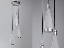 Art Chandelier de luxe, plafonnier mené, lampe pendante menée, éclairage en cristal de Œceiling de ¼ de chandelierï, éclairage pe Photo libre de droits