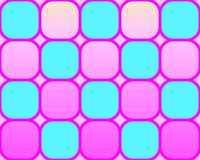 art checkerboard op pink rounded squares διανυσματική απεικόνιση