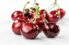 Art with cherries stock images
