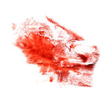 Art The cherry watercolor ink paint blob Royalty Free Stock Photo