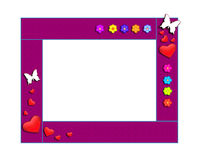 Art children's frame with butterflies. Isolated Stock Photo