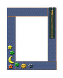 Art children's frame. Isolated Royalty Free Stock Photography