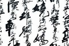 Art of Chinese handwriting vector illustration