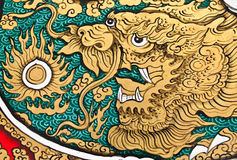 Art Chinese Style Painting On Wall Royalty Free Stock Image