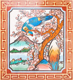Art Chinese style painting on the temple wall Royalty Free Stock Images