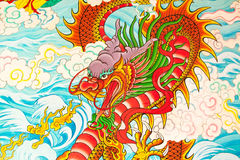 Art Chinese style painting on the wall Royalty Free Stock Photos