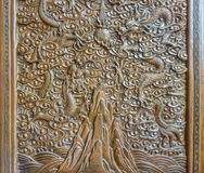 The art of Chinese wood engraving Stock Photo
