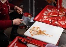 Art chinois de peinture de sucre Photographie stock