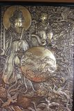 Art chinois de plat de cuivre Images libres de droits
