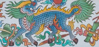 Art chinois sur les murs Photo stock