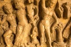 Art chrétien égyptien dans le mur d'église photographie stock