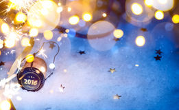 Art Christmas And 2016 New Year Party Background Stock Photos