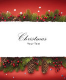 Art Christmas announcement Royalty Free Stock Images