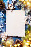 Art Christmas background with fir tree branches and holidays dec Royalty Free Stock Photo
