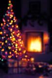 Art Christmas bakgrund Arkivbilder