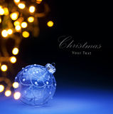 Art Christmas ball and Christmas holidays lights Royalty Free Stock Photo