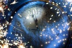 Art Christmas e nuovi anni di vigilia 2014 Fotografie Stock