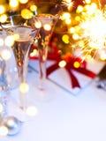 Art Christmas eller nya år parti Arkivbild