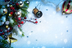 Art Christmas en de Nieuwe achtergronden van de jaarpartij stock afbeelding