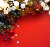 Art Christmas-Feiertagshintergrund Stockfotos