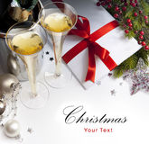 Art Christmas greeting card Stock Photography