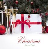 Art Christmas greeting card Stock Image