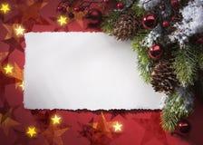 Art Christmas greeting card royalty free stock photography