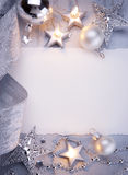 Art Christmas greeting card Stock Photography