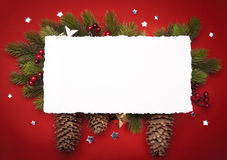 Art Christmas greeting card Royalty Free Stock Image