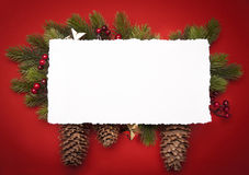 Art Christmas greeting card Royalty Free Stock Photography