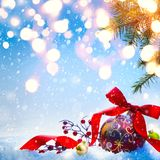Christmas greeting card background or season holidays banner stock image