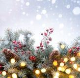 Art Christmas-groetkaart Stock Afbeeldingen