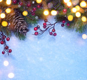 Art Christmas-groetkaart Royalty-vrije Stock Fotografie