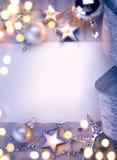 Art Christmas-Grußkarte Stockbilder