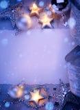 Art Christmas hälsningkort Royaltyfria Bilder