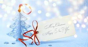 Art Christmas-Hintergrund mit Weihnachtsbaum, 26. Dezember Stockfotos