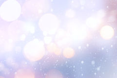 Art Christmas holiday Lights on blue background Royalty Free Stock Photos