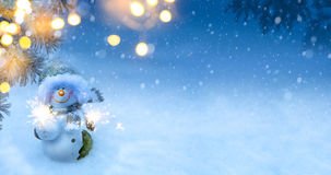 Art Christmas holidays background. Art Christmas holidays; Blu snowy background Royalty Free Stock Images