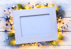 Art Christmas holidays frame Stock Images