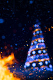 Art Christmas holidays tree light  background Stock Photo