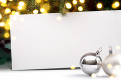 Art Christmas invitation background Royalty Free Stock Photography