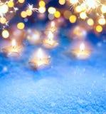Art Christmas lights background Stock Image