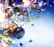 Art Christmas and New year party background Royalty Free Stock Photos