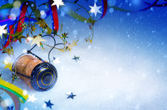 Art Christmas and New year party background Stock Images